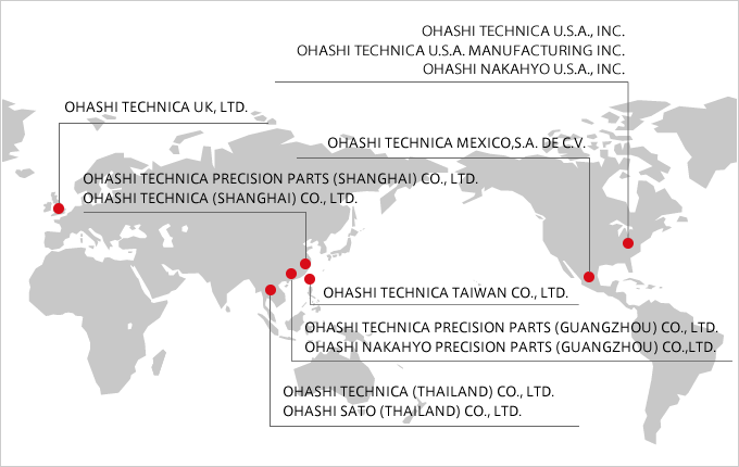 Global Reach | Business & Technology | Ohashi Technica, Inc
